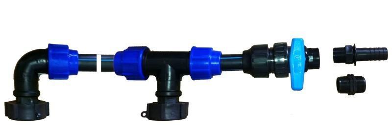 Wassertank IBC Tankverbinder Set 5 Tanks